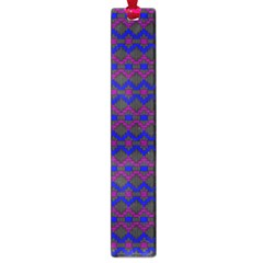 Split Diamond Blue Purple Woven Fabric Large Book Marks by Mariart
