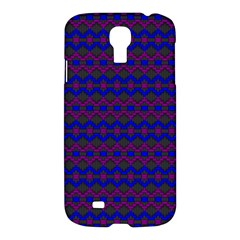 Split Diamond Blue Purple Woven Fabric Samsung Galaxy S4 I9500/i9505 Hardshell Case by Mariart