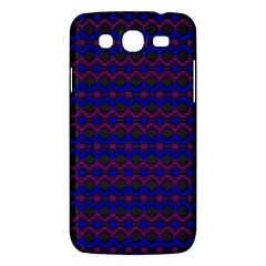 Split Diamond Blue Purple Woven Fabric Samsung Galaxy Mega 5 8 I9152 Hardshell Case  by Mariart
