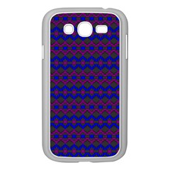 Split Diamond Blue Purple Woven Fabric Samsung Galaxy Grand Duos I9082 Case (white) by Mariart