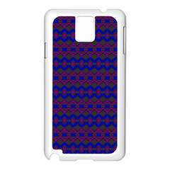 Split Diamond Blue Purple Woven Fabric Samsung Galaxy Note 3 N9005 Case (white) by Mariart