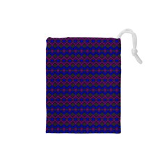 Split Diamond Blue Purple Woven Fabric Drawstring Pouches (small)  by Mariart