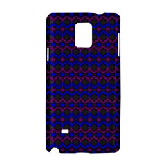 Split Diamond Blue Purple Woven Fabric Samsung Galaxy Note 4 Hardshell Case by Mariart