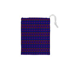 Split Diamond Blue Purple Woven Fabric Drawstring Pouches (xs)  by Mariart