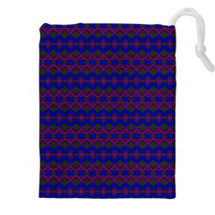 Split Diamond Blue Purple Woven Fabric Drawstring Pouches (xxl) by Mariart