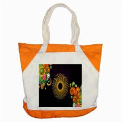 Polka Dot Circle Leaf Flower Floral Yellow Purple Red Star Accent Tote Bag