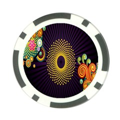 Polka Dot Circle Leaf Flower Floral Yellow Purple Red Star Poker Chip Card Guard by Mariart