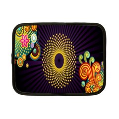 Polka Dot Circle Leaf Flower Floral Yellow Purple Red Star Netbook Case (small)  by Mariart