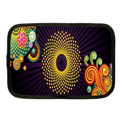 Polka Dot Circle Leaf Flower Floral Yellow Purple Red Star Netbook Case (medium)  by Mariart