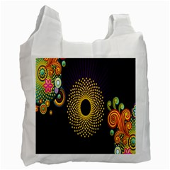 Polka Dot Circle Leaf Flower Floral Yellow Purple Red Star Recycle Bag (two Side)  by Mariart