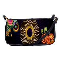 Polka Dot Circle Leaf Flower Floral Yellow Purple Red Star Shoulder Clutch Bags by Mariart