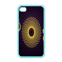 Polka Dot Circle Leaf Flower Floral Yellow Purple Red Star Apple Iphone 4 Case (color) by Mariart
