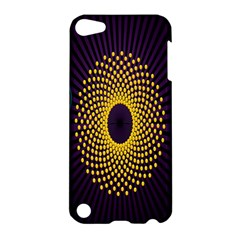 Polka Dot Circle Leaf Flower Floral Yellow Purple Red Star Apple Ipod Touch 5 Hardshell Case by Mariart