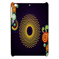 Polka Dot Circle Leaf Flower Floral Yellow Purple Red Star Apple Ipad Mini Hardshell Case by Mariart