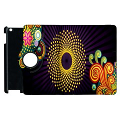 Polka Dot Circle Leaf Flower Floral Yellow Purple Red Star Apple Ipad 2 Flip 360 Case by Mariart