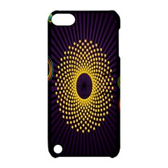 Polka Dot Circle Leaf Flower Floral Yellow Purple Red Star Apple Ipod Touch 5 Hardshell Case With Stand by Mariart