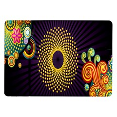 Polka Dot Circle Leaf Flower Floral Yellow Purple Red Star Samsung Galaxy Tab 10 1  P7500 Flip Case by Mariart