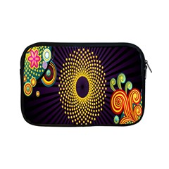 Polka Dot Circle Leaf Flower Floral Yellow Purple Red Star Apple Ipad Mini Zipper Cases by Mariart