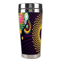 Polka Dot Circle Leaf Flower Floral Yellow Purple Red Star Stainless Steel Travel Tumblers by Mariart