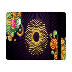 Polka Dot Circle Leaf Flower Floral Yellow Purple Red Star Samsung Galaxy Tab Pro 8 4  Flip Case by Mariart