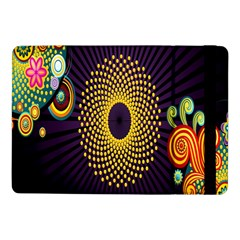 Polka Dot Circle Leaf Flower Floral Yellow Purple Red Star Samsung Galaxy Tab Pro 10 1  Flip Case by Mariart