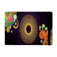 Polka Dot Circle Leaf Flower Floral Yellow Purple Red Star Ipad Mini 2 Flip Cases by Mariart