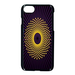 Polka Dot Circle Leaf Flower Floral Yellow Purple Red Star Apple Iphone 7 Seamless Case (black) by Mariart