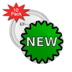 New Icon Sign 2 25  Buttons (10 Pack)