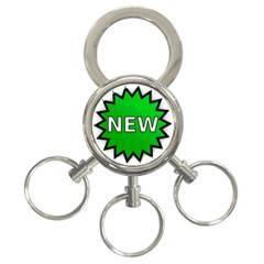 New Icon Sign 3 Ring Key Chains by Mariart