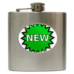 New Icon Sign Hip Flask (6 Oz) by Mariart