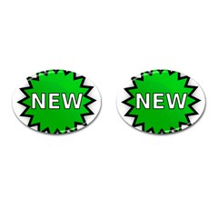 New Icon Sign Cufflinks (oval) by Mariart