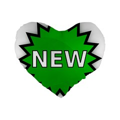 New Icon Sign Standard 16  Premium Heart Shape Cushions by Mariart