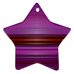 Stripes Line Red Purple Ornament (star) by Mariart