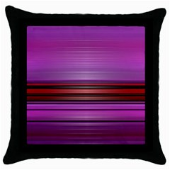 Stripes Line Red Purple Throw Pillow Case (black) by Mariart