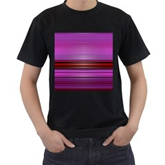 Stripes Line Red Purple Men s T-shirt (black) by Mariart