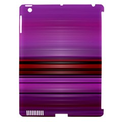 Stripes Line Red Purple Apple Ipad 3/4 Hardshell Case (compatible With Smart Cover) by Mariart
