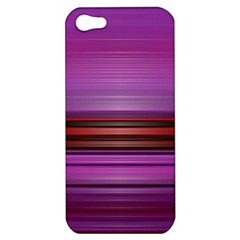 Stripes Line Red Purple Apple Iphone 5 Hardshell Case