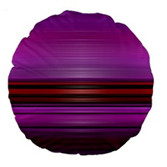 Stripes Line Red Purple Large 18  Premium Round Cushions by Mariart