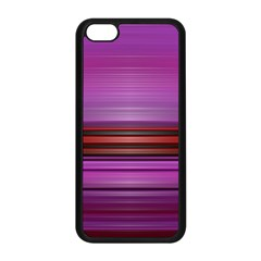 Stripes Line Red Purple Apple Iphone 5c Seamless Case (black) by Mariart