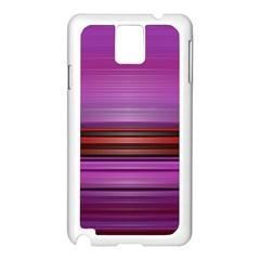 Stripes Line Red Purple Samsung Galaxy Note 3 N9005 Case (white) by Mariart