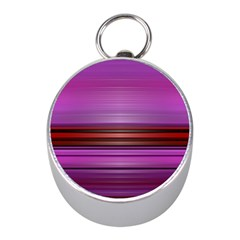 Stripes Line Red Purple Mini Silver Compasses by Mariart