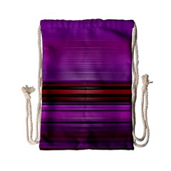 Stripes Line Red Purple Drawstring Bag (small) by Mariart