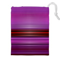 Stripes Line Red Purple Drawstring Pouches (xxl) by Mariart