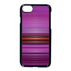 Stripes Line Red Purple Apple Iphone 7 Seamless Case (black) by Mariart
