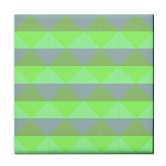 Squares Triangel Green Yellow Blue Tile Coasters by Mariart
