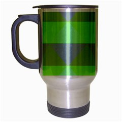 Squares Triangel Green Yellow Blue Travel Mug (silver Gray) by Mariart