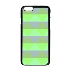 Squares Triangel Green Yellow Blue Apple Iphone 6/6s Black Enamel Case by Mariart