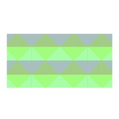 Squares Triangel Green Yellow Blue Satin Wrap by Mariart