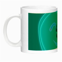 Xray Worms Fruit Apples Blue Night Luminous Mugs by Mariart