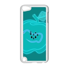 Xray Worms Fruit Apples Blue Apple Ipod Touch 5 Case (white) by Mariart